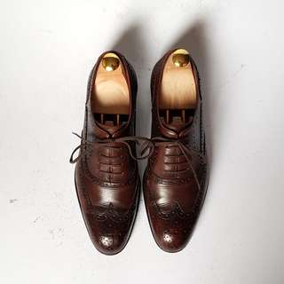 bf60dc8432c0b Wingtip Oxford Brown Leather Shoes