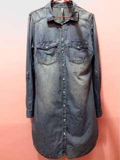 Stradivarius Denim Top (Semi Dress)
