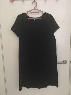 Kookai black mini t shirt dress