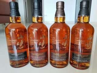 Japanese Whisky Yamazaki Limited Edition 2014/2015/2016/2017