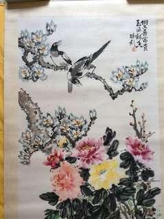 画家傅梅影 Chinese painting