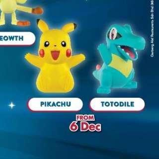 McDonald's Happy Meal Toy Pokemon Pikachu Totodile