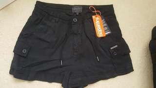 Superdry black shorts. Sz XS