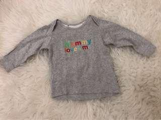 Mothercare Mommy Loves Me long t-shirt 9-12m