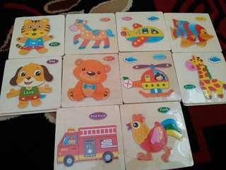 Mainan Puzzle Edukasi Kayu