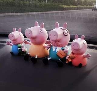 Peppa pig 4pcs Family toy figurine