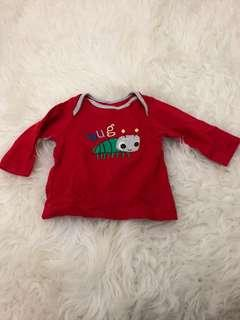 Mothercare Bug Long T-shirt 0-3M