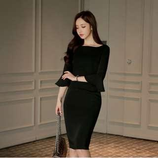 Emily Formal Black Work Dress