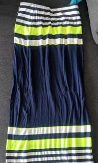 🚚 MDS colourful striped long skirt