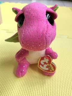 TY Plush Purple Dragon Regular