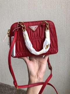 PRADA RED Chain Mini Shoulder Bag