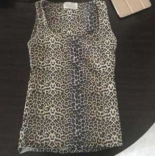 Zara Basic Leopard Print Sleeveless