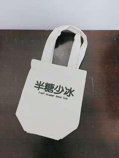🚚 (全新)半糖少冰帆布飲料手提袋