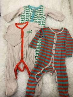 Mothercare Sleepsuit Set of 3 12-18m