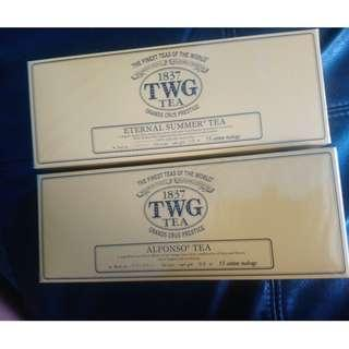TWG COTTON  tea bags for ALFONSO TEA AND ETERNAL SUMMER TEA