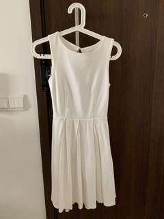 Love Bonito white dress (open back)