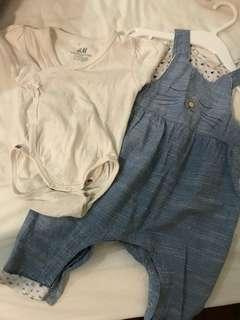1 set Baby girl HnM clothes
