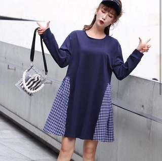 Tartan tone dress New