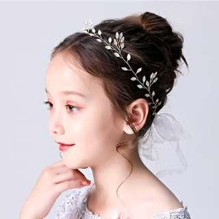 {RENT} Silver Leaves Hairpieces (RH-005)