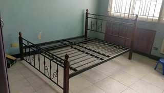 Metal Frame Bed with FREE MATTRESS!