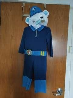 Captain Barnacles Bear Octonauts kids costume