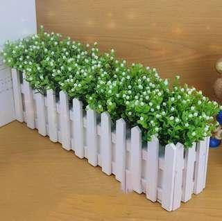 Fenced Flower deco (2 pieces)