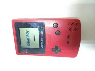 NINTENDO GAMEBOY COLOR HANDHELD CONSOLE RED CGB-001 GAME BOY WORKS