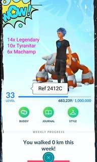 LvL33 Pokemon Go Ref 2412C