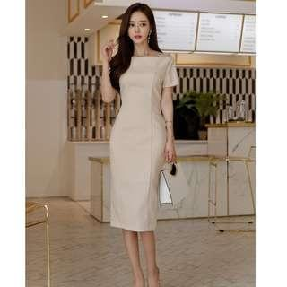 Mandy Nude Formal Work Dress