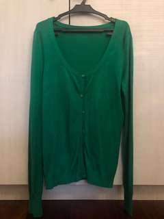 Zara Basic Green Cardigan