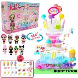 LOL Girl Ice cream Candy Cart Playset