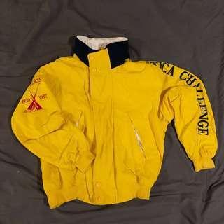 古著 黃色 nautica 可愛 外套 連帽外套 保暖