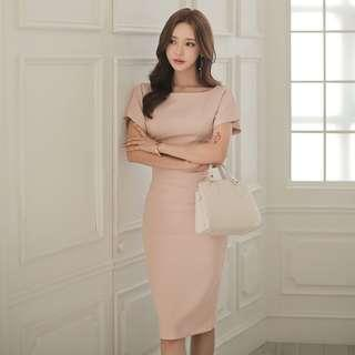 Ashlyn Pink Formal Work Dress