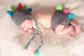 Brand new newborn photoshoot dinosaur costume