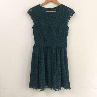 Green Lace Dress Divided by H&M