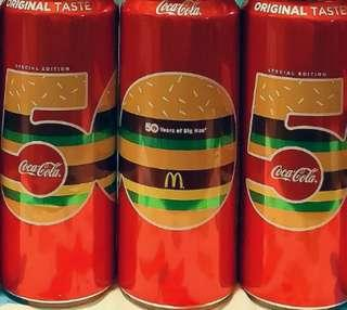 印尼版 Coca-Cola X BIGMAC 50周年 紀念罐