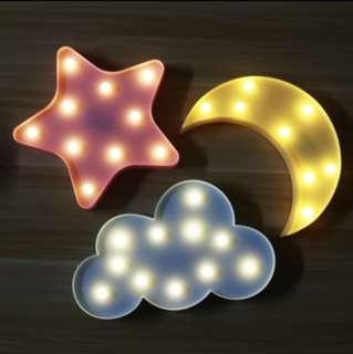 Star Cloud Moon Marquee Lights