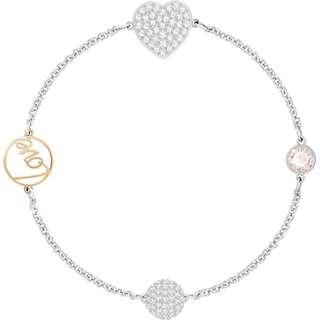 Swarovski Remix Silver Love Heart Strand Bracelet 17.5cm RRP$99
