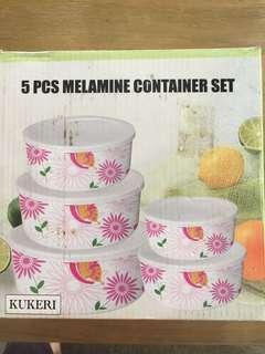 Brand New 5pcs melamine container set