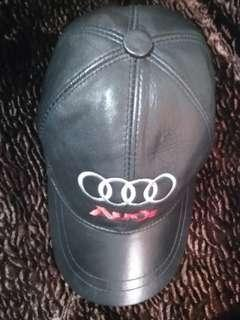 Audi genuine leather cap