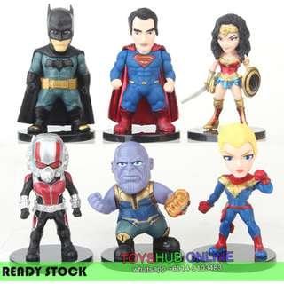 Newest Superheroes WonderWoman Spiderman Batman Captain Marvel Thanos PVC Figure