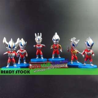 6Pcs Ultraman PVC Figures Cake Topper Ginga Zero