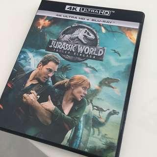 Jurassic World: Fallen Kingdom 4K Ultra HD + Blu-ray DVD