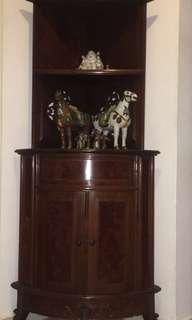 Chinese Rosewood Corner Cabinet