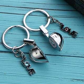 "🚚 Couple LOVE Heart Keychain Set with ""I LOVE YOU"" sound"