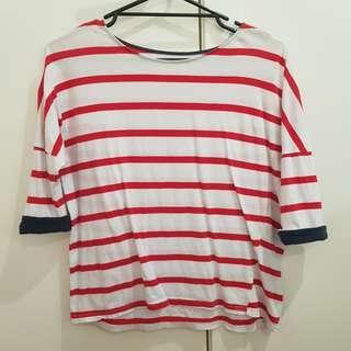 Korean style striped top
