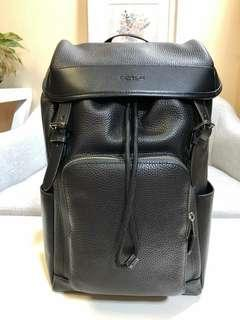 HENRY BACKPACK IN PEBBLE LEATHER (COACH F72311)  BLACK