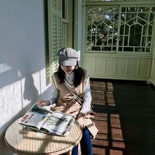 🚚 韓國質感 復古格紋帽 報童帽