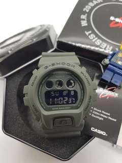 *ORIGINAL* Casio G-Shock Watch DW6900-LU-3(Olive Green/Orange)