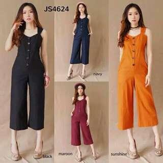 Button long jumpsuit ( sunshine )
